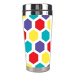 Hexagon Pattern  Stainless Steel Travel Tumblers Right