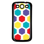 Hexagon Pattern  Samsung Galaxy S3 Back Case (Black) Front