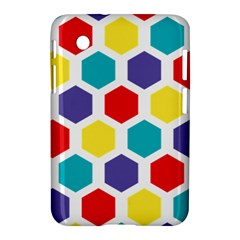 Hexagon Pattern  Samsung Galaxy Tab 2 (7 ) P3100 Hardshell Case