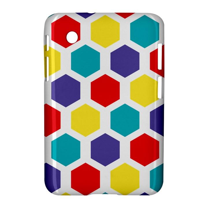 Hexagon Pattern  Samsung Galaxy Tab 2 (7 ) P3100 Hardshell Case