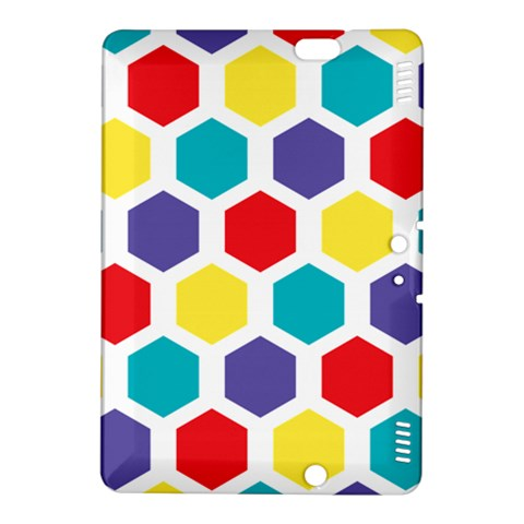 Hexagon Pattern  Kindle Fire HDX 8.9  Hardshell Case