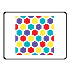 Hexagon Pattern  Double Sided Fleece Blanket (Small)