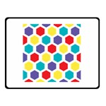 Hexagon Pattern  Double Sided Fleece Blanket (Small)  50 x40 Blanket Back