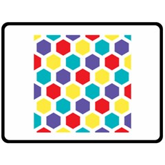 Hexagon Pattern  Double Sided Fleece Blanket (Large)