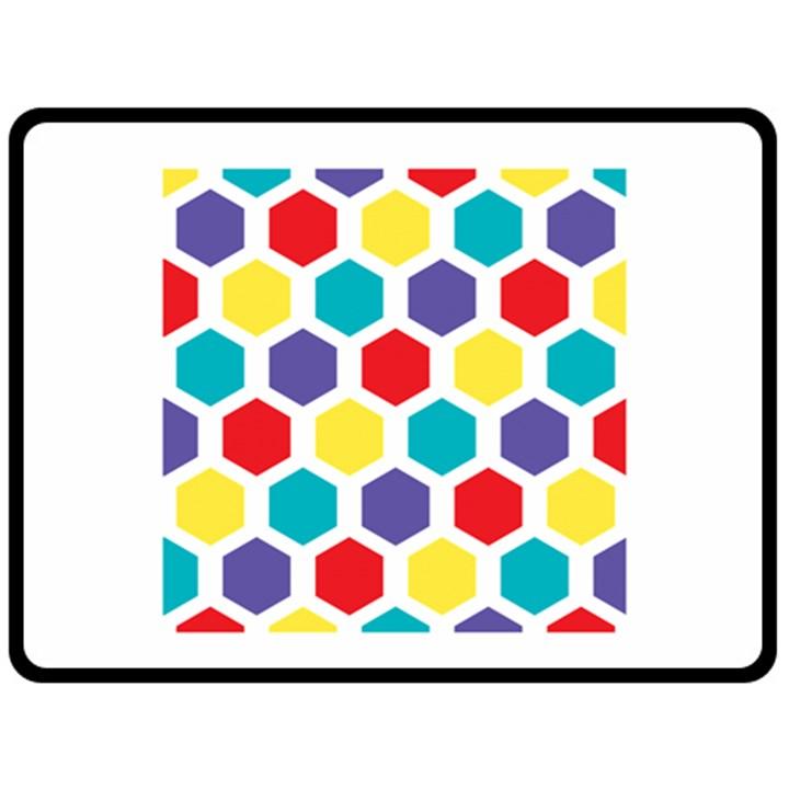 Hexagon Pattern  Double Sided Fleece Blanket (Large)