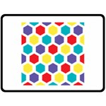 Hexagon Pattern  Double Sided Fleece Blanket (Large)  80 x60 Blanket Back