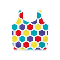 Hexagon Pattern  Full Print Recycle Bags (S)