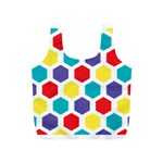 Hexagon Pattern  Full Print Recycle Bags (S)  Back
