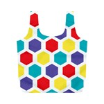Hexagon Pattern  Full Print Recycle Bags (M)  Front