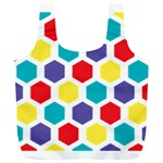 Hexagon Pattern  Full Print Recycle Bags (L)  Back