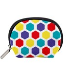 Hexagon Pattern  Accessory Pouches (Small)  Front