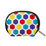 Hexagon Pattern  Accessory Pouches (Small)  Back