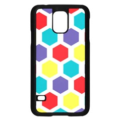 Hexagon Pattern  Samsung Galaxy S5 Case (Black)