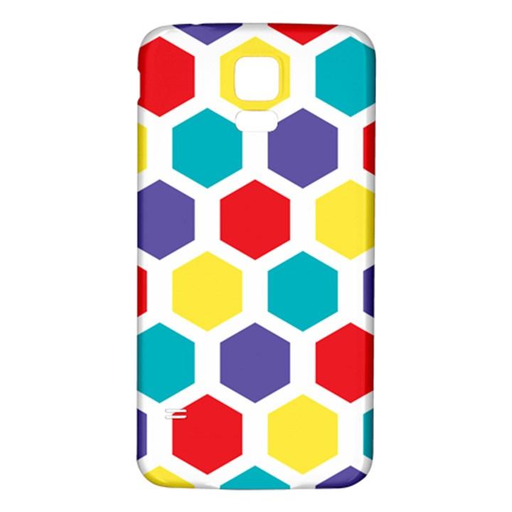 Hexagon Pattern  Samsung Galaxy S5 Back Case (White)