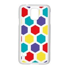 Hexagon Pattern  Samsung Galaxy S5 Case (White)
