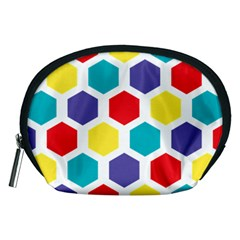 Hexagon Pattern  Accessory Pouches (Medium)