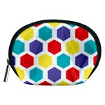 Hexagon Pattern  Accessory Pouches (Medium)  Front