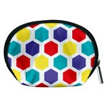 Hexagon Pattern  Accessory Pouches (Medium)  Back