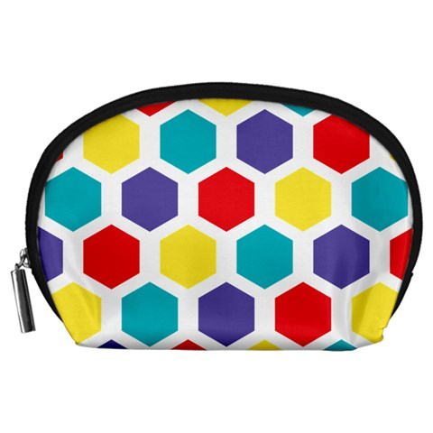 Hexagon Pattern  Accessory Pouches (Large)