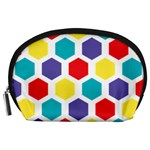 Hexagon Pattern  Accessory Pouches (Large)  Front