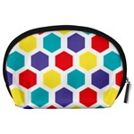 Hexagon Pattern  Accessory Pouches (Large)  Back