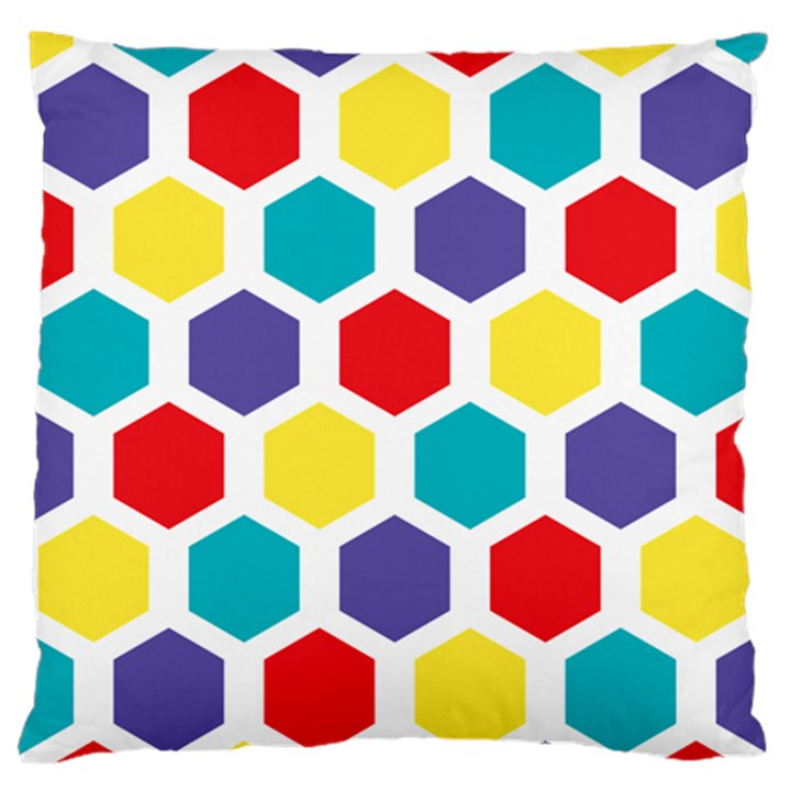 Hexagon Pattern  Large Flano Cushion Case (One Side)