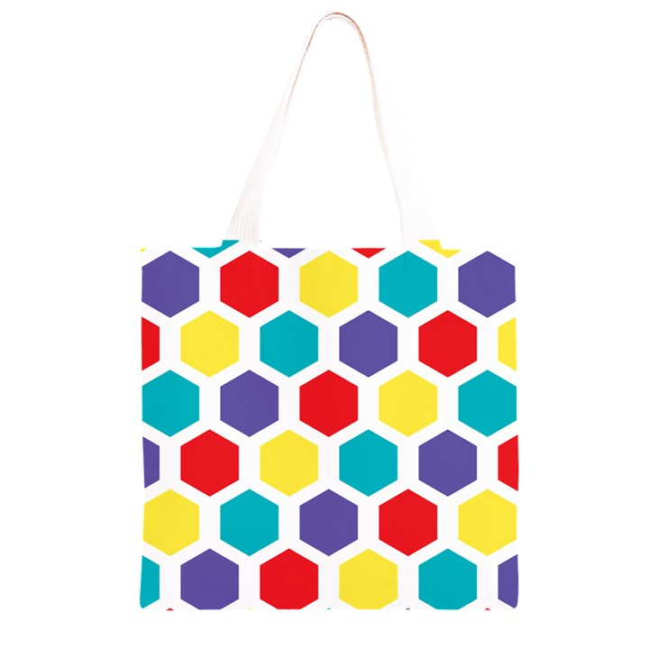 Hexagon Pattern  Grocery Light Tote Bag