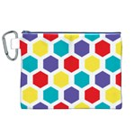 Hexagon Pattern  Canvas Cosmetic Bag (XL) Front