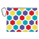 Hexagon Pattern  Canvas Cosmetic Bag (XXL) Front