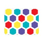 Hexagon Pattern  Double Sided Flano Blanket (Mini)  35 x27 Blanket Front