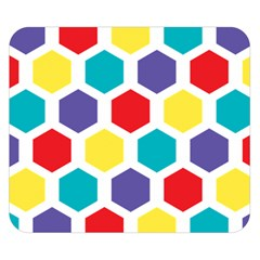 Hexagon Pattern  Double Sided Flano Blanket (Small)
