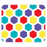 Hexagon Pattern  Double Sided Flano Blanket (Small)  50 x40 Blanket Back