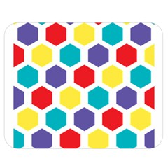 Hexagon Pattern  Double Sided Flano Blanket (Medium)