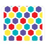 Hexagon Pattern  Double Sided Flano Blanket (Medium)  60 x50 Blanket Front