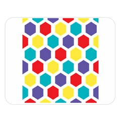 Hexagon Pattern  Double Sided Flano Blanket (Large)