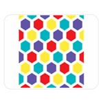 Hexagon Pattern  Double Sided Flano Blanket (Large)  80 x60 Blanket Front