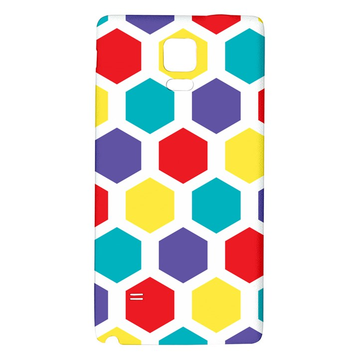 Hexagon Pattern  Galaxy Note 4 Back Case