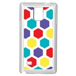 Hexagon Pattern  Samsung Galaxy Note 4 Case (White) Front