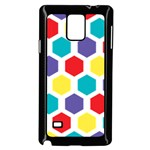 Hexagon Pattern  Samsung Galaxy Note 4 Case (Black) Front