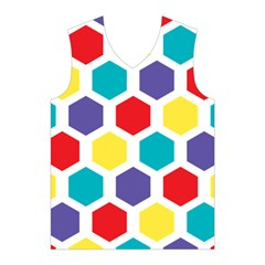 Hexagon Pattern  Men s Basketball Tank Top