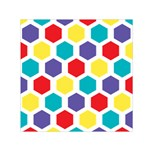 Hexagon Pattern  Small Satin Scarf (Square) Front