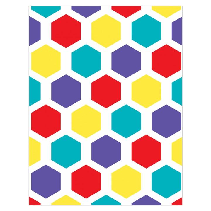 Hexagon Pattern  Drawstring Bag (Large)