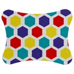 Hexagon Pattern  Jigsaw Puzzle Photo Stand (Bow) Front