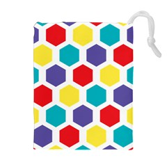 Hexagon Pattern  Drawstring Pouches (Extra Large)