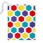 Hexagon Pattern  Drawstring Pouches (XXL) Back
