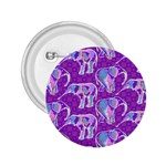 Cute Violet Elephants Pattern 2.25  Buttons Front