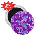 Cute Violet Elephants Pattern 2.25  Magnets (100 pack)  Front