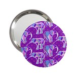 Cute Violet Elephants Pattern 2.25  Handbag Mirrors Front