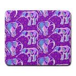 Cute Violet Elephants Pattern Large Mousepads Front