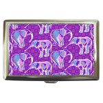 Cute Violet Elephants Pattern Cigarette Money Cases Front